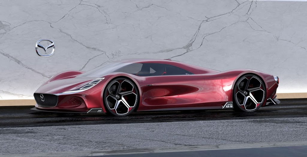 Designér Mitsubishi navrhl konkurenta pro Ferrari, ultimativní hypersport Mazda RX-10 Vision Longtail